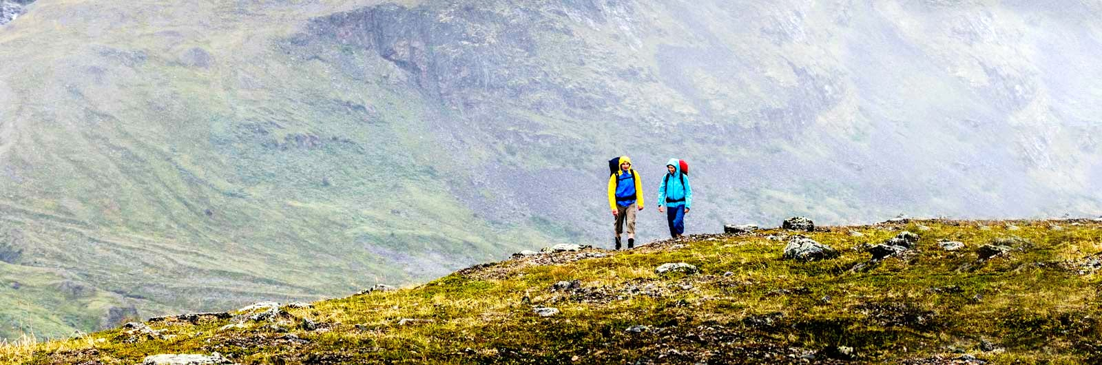 Hikers walking on Padjelanta Trail