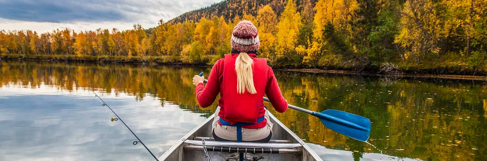 Autumn paddling in Lappland