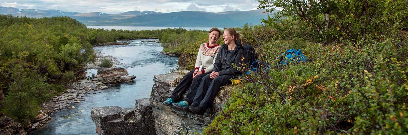 Two happy women on Kungsleden