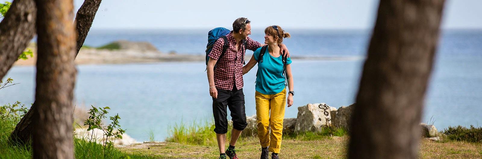 Happy couple on Österlen Signature Trail