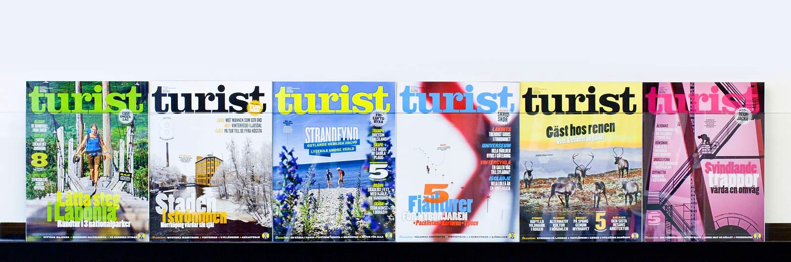 Various issues of Turist magazine